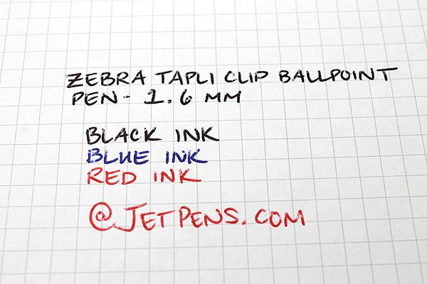 Zebra Tapli Clip Ballpoint Pen - 1.6 mm - Blue Body - Blue Ink - ZEBRA BNU5-BL