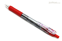 Zebra Tapli Clip Ballpoint Pen - 1.6 mm - Red Body - Red Ink - ZEBRA BNU5-R
