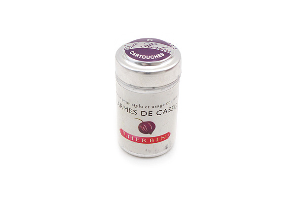 J. Herbin Fountain Pen Ink Cartridge - Larmes de Cassis (Tears of Black Currant Purple) - Pack of 6 - J. HERBIN H201/78