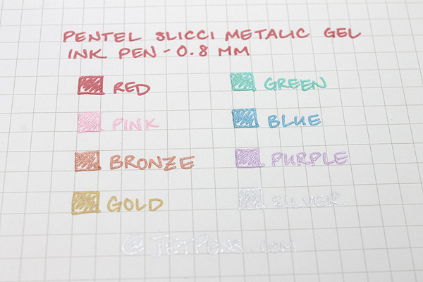 Pentel Slicci Metallic Gel Ink Pen - 0.8 mm - Bronze - PENTEL BG208-ME