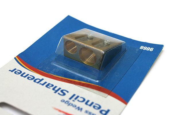 Alvin Brass Pencil Sharpener - Wedge - 2 Holes - ALVIN 9868