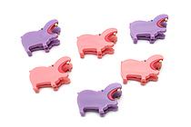 Midori Clip - Hippo - Pack of 6 - MIDORI 230532