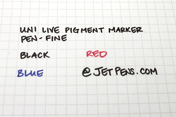 Uni Live Pigment Sign Pen - Fine - Black - UNI MYT7.24
