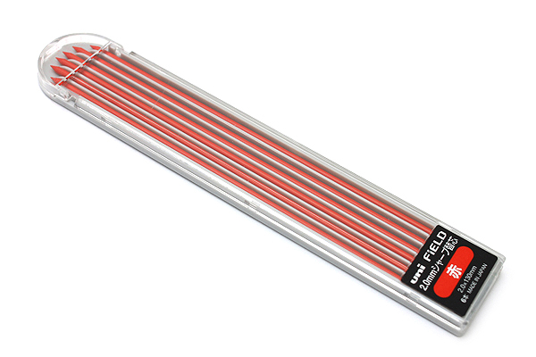 Uni Field Lead Holder Refill - 2 mm - Red - Pack of 6 - UNI U203101P.15