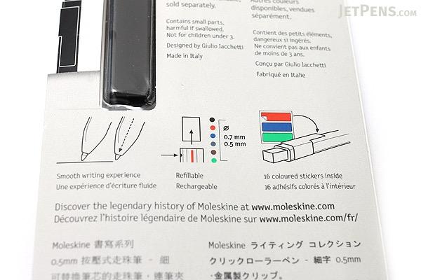 Moleskine Click Roller Pen - 0.5 mm - MOLESKINE 978-88-6613-292-9