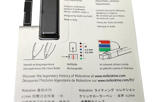 Moleskine Click Roller Pen - 0.7 mm - MOLESKINE 978-88-6732-445-3