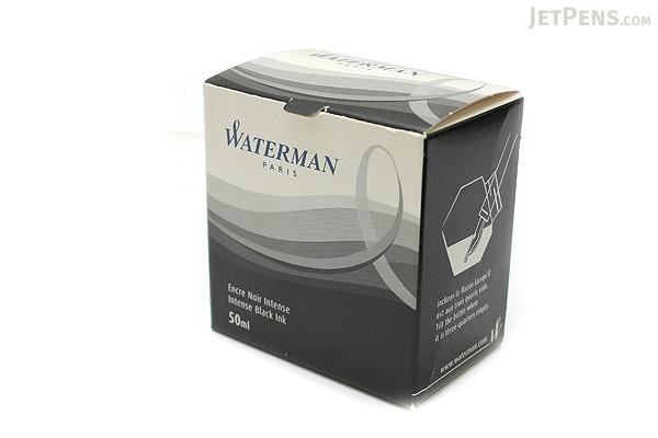 Waterman Intense Black Ink - 50 ml Bottle - WATERMAN S0110710