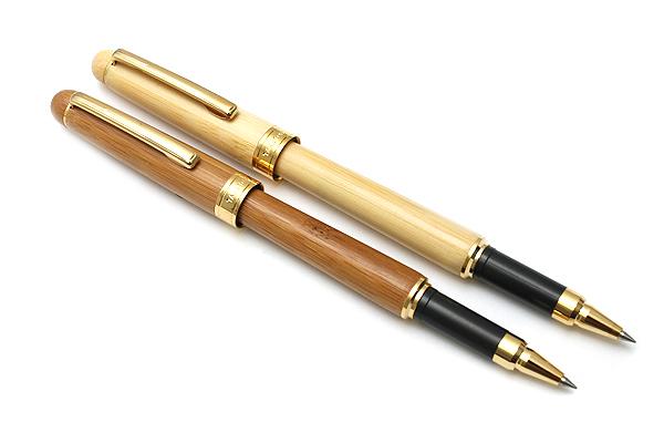 Ohto Take Tori Bamboo Body Ceramic Roller Ball Pen - 0.5 mm - Brown Body - OHTO CB-T10A BROWN