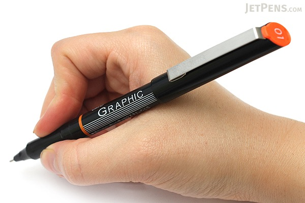 Ohto Graphic Liner Needle Point Drawing Pen - Pigment Ink - 01 - 0.4 mm - Black Ink - OHTO CFR-150GL01