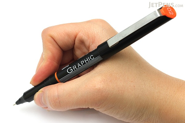 Ohto Graphic Liner Needle Point Drawing Pen - Pigment Ink - 02 - 0.5 mm - Black Ink - OHTO CFR-150GL02