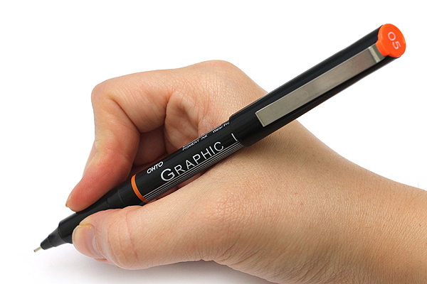 Ohto Graphic Liner Needle Point Drawing Pen - Pigment Ink - 05 - 1.0 mm - Black Ink - OHTO CFR-150GL05