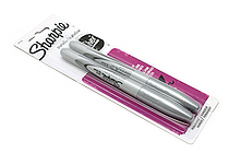 Sharpie Metallic Permanent Marker - Fine Point - Silver - Pack of 2 - SHARPIE 39108PP