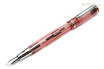 Monteverde Artista Crystal Fountain Pen - Transparent Pink - Medium Nib - MONTEVERDE MV26918