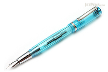 Monteverde Artista Crystal Fountain Pen - Transparent Turquoise - Medium Nib - MONTEVERDE MV26915