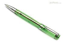 Monteverde Artista Crystal Roller Ball Pen - Fine Point - Transparent Lime Green Body - Black Ink - MONTEVERDE MV26911