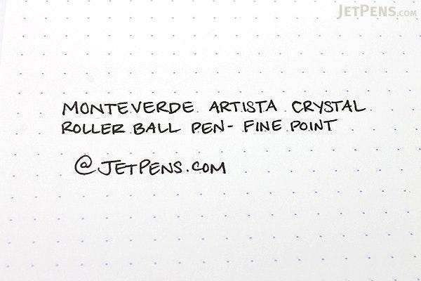 Monteverde Artista Crystal Roller Ball Pen - Fine Point - Transparent Pink Body - Black Ink - MONTEVERDE MV26917