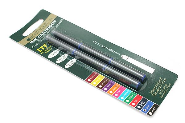 Monteverde Fountain Pen Standard Ink Cartridge - Blue - Pack of 6 - MONTEVERDE G302BU