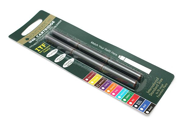 Monteverde Fountain Pen Standard Ink Cartridge - Brown - Pack of 6 - MONTEVERDE G302BN