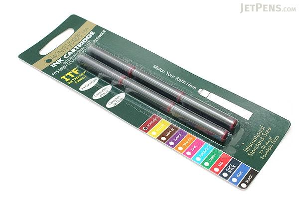 Monteverde Fountain Pen Standard Ink Cartridge - Burgundy - Pack of 6 - MONTEVERDE G302BG