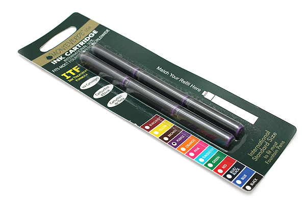 Monteverde Fountain Pen Standard Ink Cartridge - Purple - Pack of 6 - MONTEVERDE G302PL
