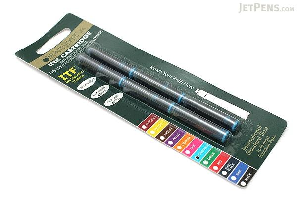 Monteverde Fountain Pen Standard Ink Cartridge - Turquoise - Pack of 6 - MONTEVERDE G302TQ