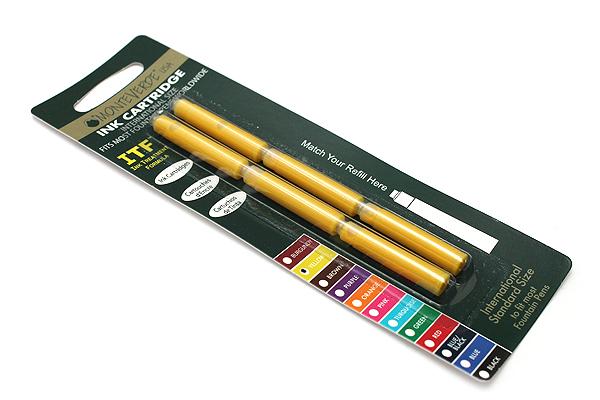 Monteverde Fountain Pen Standard Ink Cartridge - Yellow - Pack of 6 - MONTEVERDE G302YW