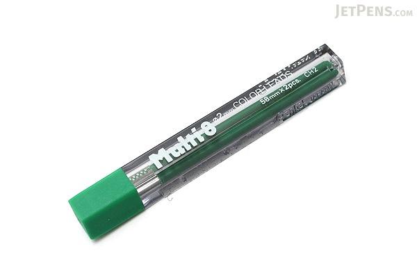 Pentel Multi 8 Lead Holder Refill - 2 mm - Green - Pack of 2 - PENTEL CH2-D
