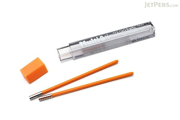 Pentel Multi 8 Lead Holder Refill - 2 mm - Orange - Pack of 2 - PENTEL CH2-F