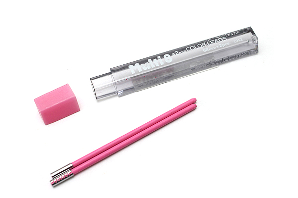 Pentel Multi 8 Lead Holder Refill - 2 mm - Pink - Pack of 2 - PENTEL CH2-P