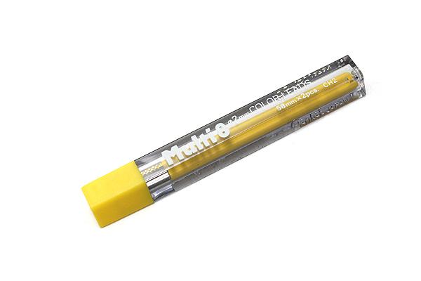 Pentel Multi 8 Lead Holder Refill - 2 mm - Yellow - Pack of 2 - PENTEL CH2-G