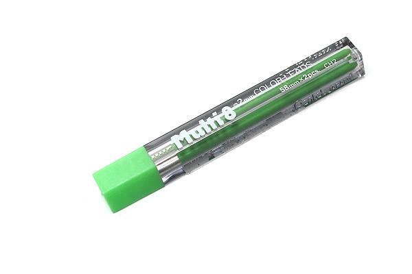 Pentel Multi 8 Lead Holder Refill - 2 mm - Yellow Green - Pack of 2 - PENTEL CH2-K