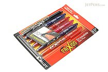 Pilot FriXion Ball US Erasable Gel Pen - 0.7 mm - 6 Color Set - PILOT FX7C6001