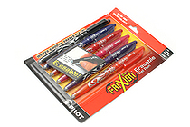 Pilot FriXion Ball US Erasable Gel Pen - 0.7 mm - 6 Color Set - PILOT 31568