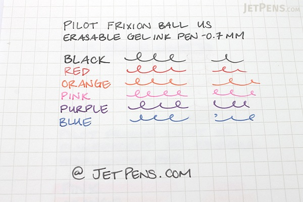 Pilot FriXion Ball US Gel Pen - 0.7 mm - Purple - PILOT FX7--PPL-BC