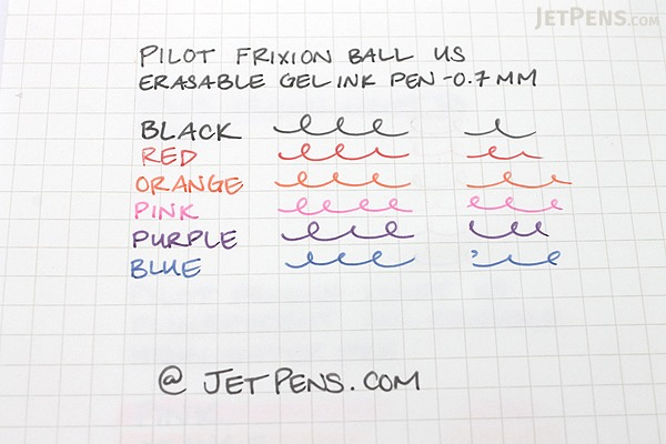 Pilot FriXion Ball US Erasable Gel Pen - 0.7 mm - Blue - PILOT FX7--BLU-BC