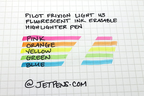 Pilot FriXion Light US Erasable Highlighter - 3 Color Set - PILOT 46507