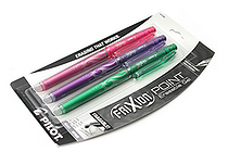Pilot FriXion Point US Erasable Gel Pen - 0.5 mm - 3 Color Set (Pink/Purple/Green) - PILOT 31580