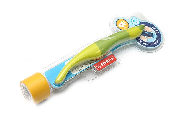 Stabilo EASYoriginal Rollerball Pen - Left Handed - 0.5 mm - Green Body - Blue Ink - STABILO 6891-5-4103