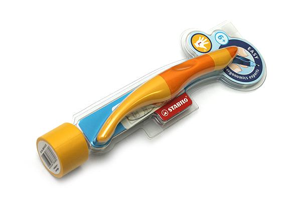 Stabilo EASYoriginal Rollerball Pen - Left Handed - 0.5 mm - Orange/Yellow Body - Blue Ink - STABILO 6891-6-4103