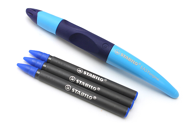Stabilo EASYoriginal Roller Ball Pen - Right Handed - 0.5 mm - Blue Body - Blue Ink - STABILO 6892-2-4103