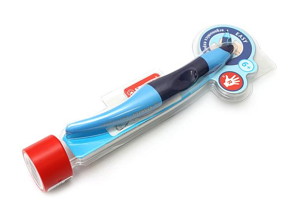 Stabilo EASYoriginal Roller Ball Pen - Right Handed - 0.5 mm - Blue Body - Blue Ink - STABILO 6892-2-4103
