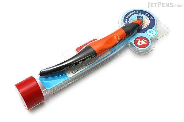 Stabilo EASYoriginal Roller Ball Pen - Right Handed - 0.5 mm - Orange/Black Body - Blue Ink - STABILO 6892-3-4103