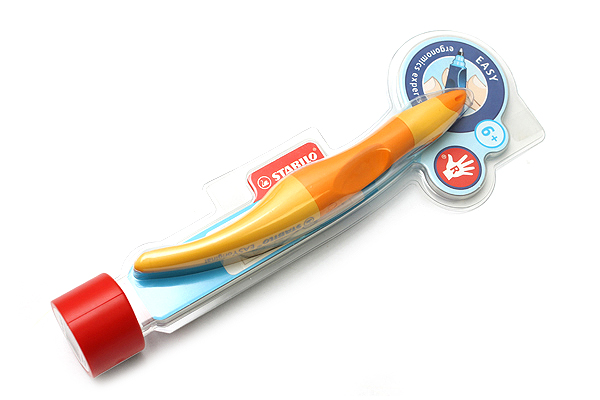Stabilo EASYoriginal Rollerball Pen - Right Handed - 0.5 mm - Orange/Yellow Body - Blue Ink - STABILO 6892-6-4103
