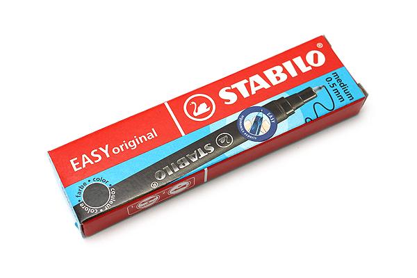 Stabilo EASYoriginal Rollerball Pen Refill - 0.5 mm - Black Ink - Pack of 3 - STABILO SW6890-046