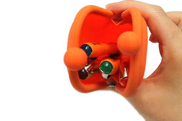 P+G Pochi Slim Silicone Pen Case - Orange - P+G POCHI SLIM OR