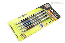 Zebra F-301 Stainless Steel Retractable Ballpoint Pen - 0.7 mm - 4 Color Set - ZEBRA 27174