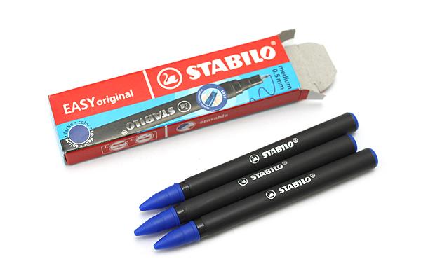 Stabilo EASYoriginal Rollerball Pen Refill - 0.5 mm - Blue Ink - Pack of 3 - STABILO 6890-041