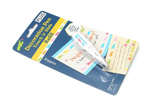 Plus Deco Rush Decoration Pen Refill - 6 mm X 6 m - Hippos - PLUS 43-866