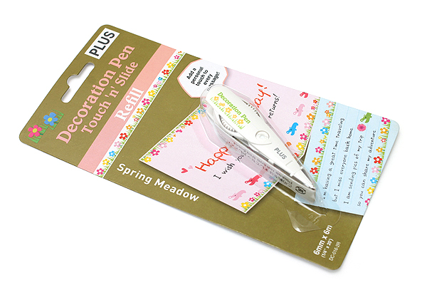 Plus Deco Rush Decoration Pen Refill - 6 mm X 6 m - Spring Meadow - PLUS 43-867