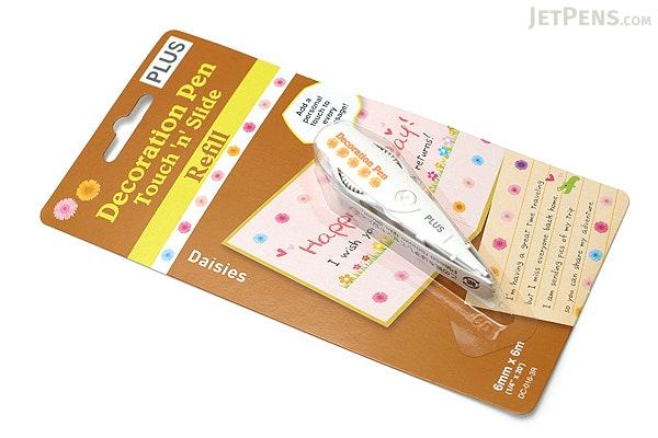 Plus Deco Rush Decoration Pen Refill - 6 mm X 6 m - Daisies - PLUS 43-868